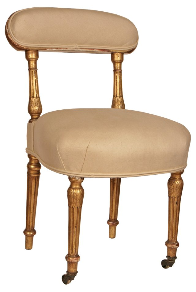 Antique French Gilt Side Chair