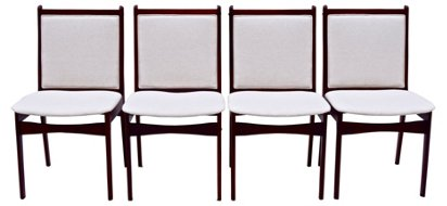 Danish Rosewood Dining Chairs S 4