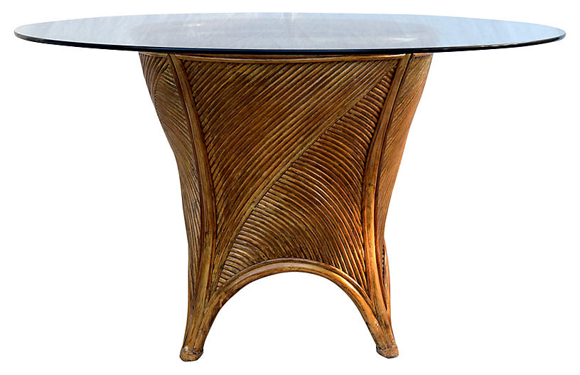 Pencil Rattan Dining Table