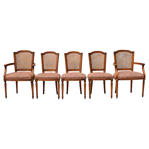 Karges French Cane Dining Chairs, S/6