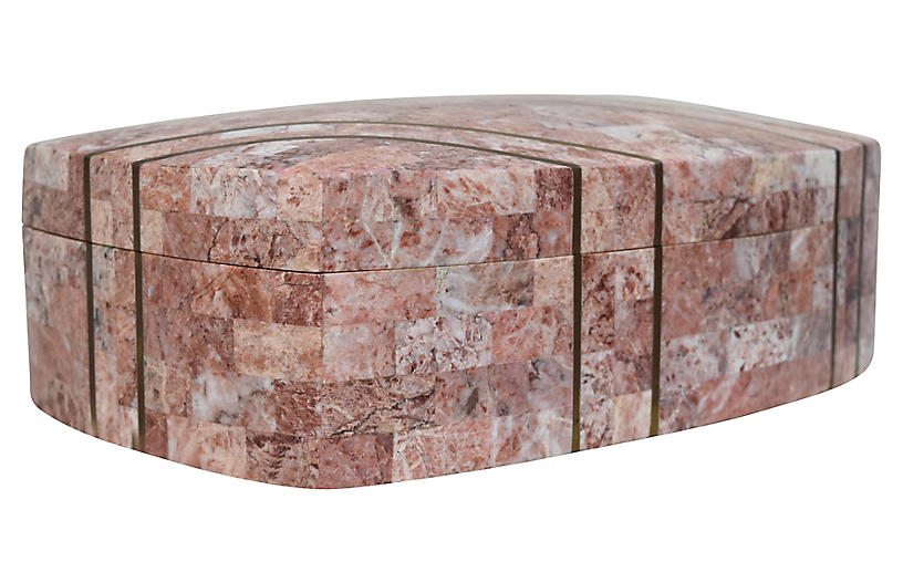 Maitland-Smith Tessellated Marble Box