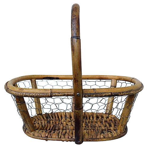 Antique French Egg Basket