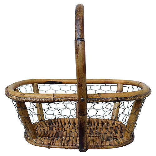 Antique French Egg Basket