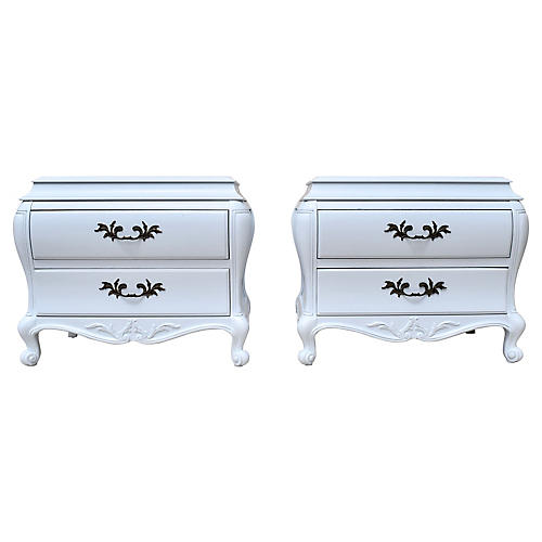 French-Style Bombé Chests, Pair