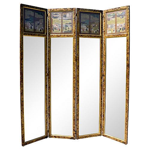 Hollywood Regency Mirror Screen