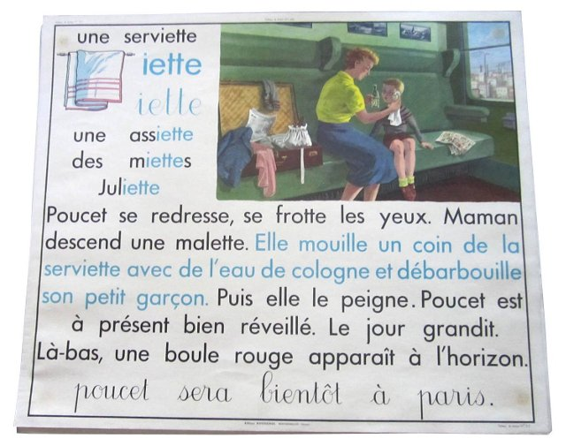 French Train & Towel Reading Chart