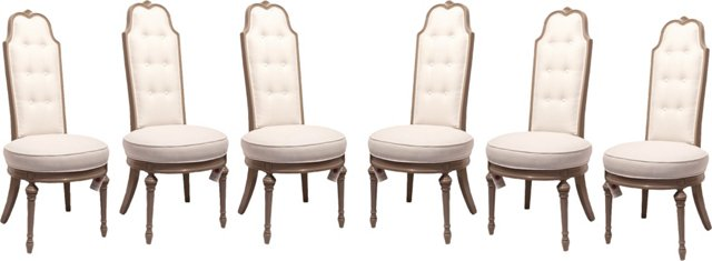 High-Back Dining Chairs, Set of 6