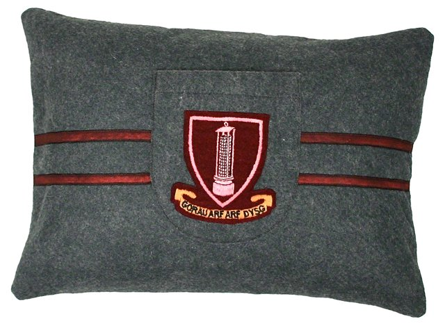 School Badge Pillow Sham