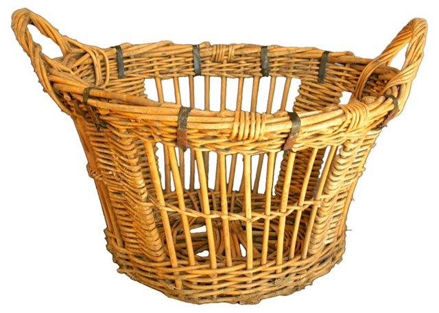 Nautical Wicker Basket from France