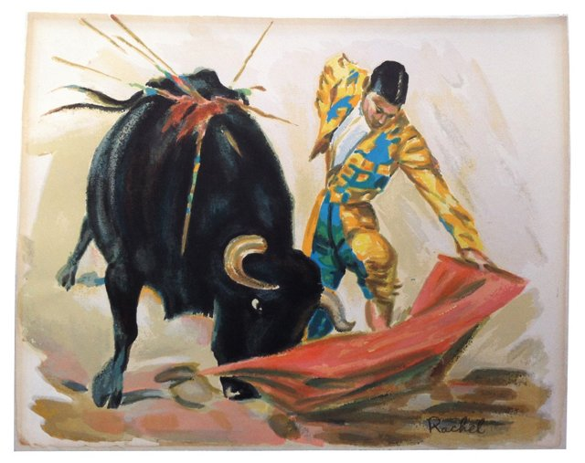 Colorful Bullfighter