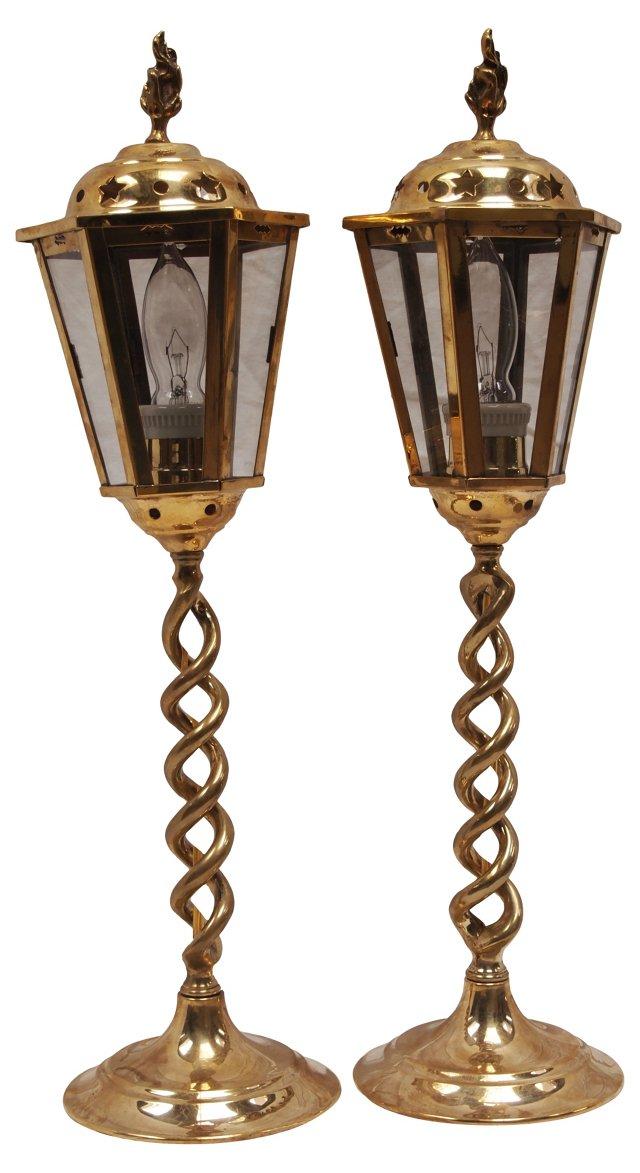 Barley Twist Lamps, Pair