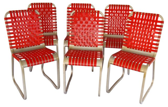 Mid-Century Modern Side Chairs, S/6