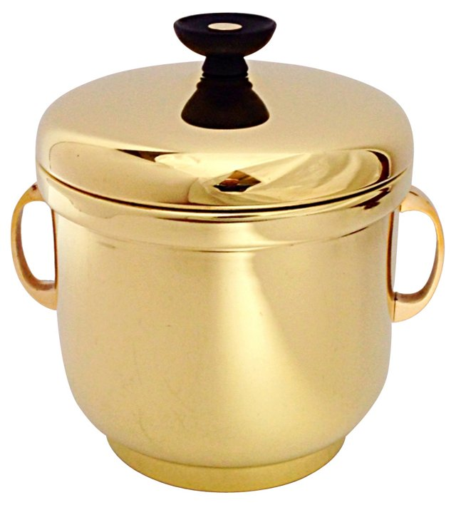 Solid Brass Farber Bros Ice Bucket