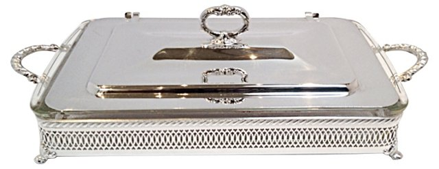 Silverplated Chafing Stand w/ Insert