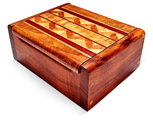 7 Wood Inlaid Box