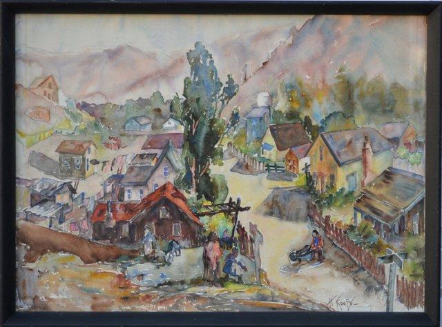 Watercolor by H. Koops