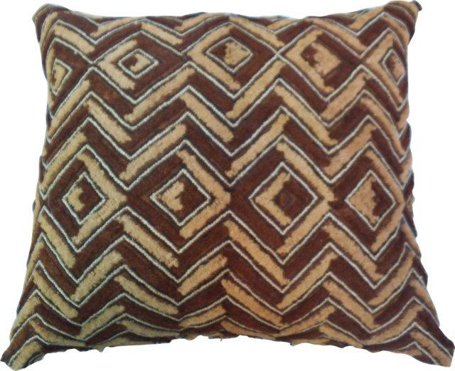 African Tribal Kuba Cloth Pillow