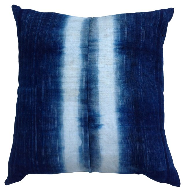 Yao Tribe Indigo Batik Pillow