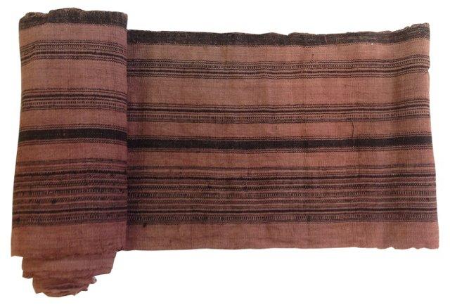 Black-Striped Linen, 6.1 Yds