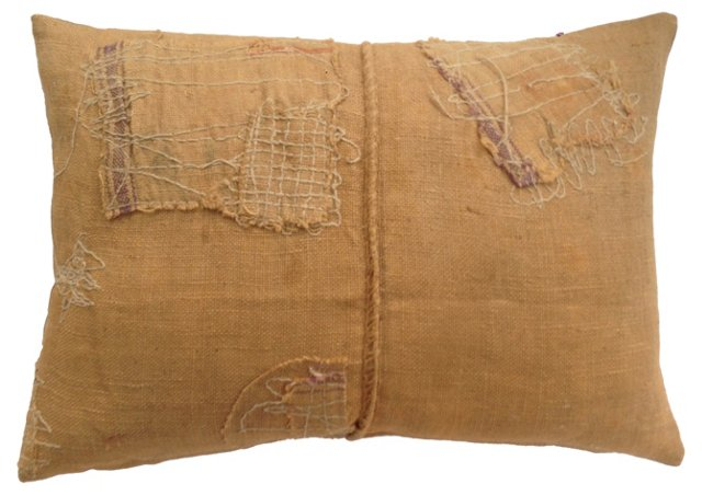 French Feed Sack Pillow