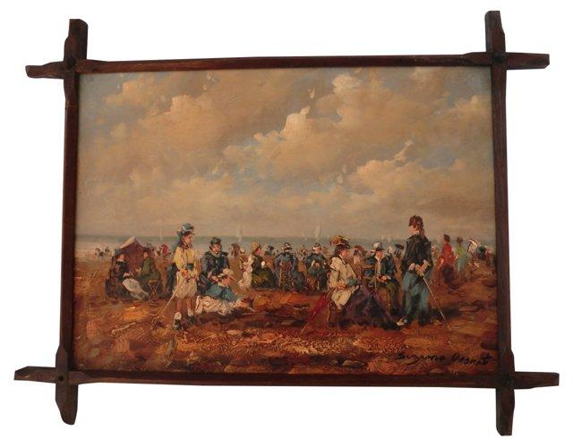 Victorian Beach Scene