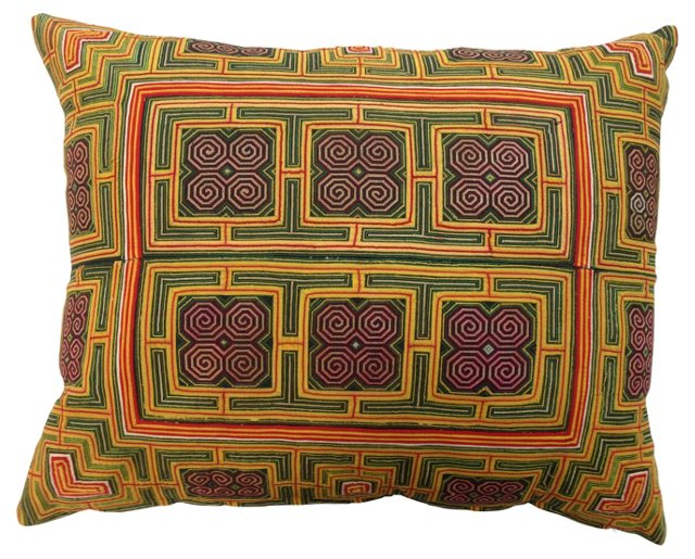 Embroidered Tribal  Pillow