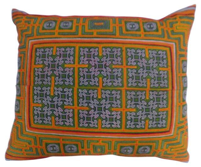 Appliquéd Yao Tribe Pillow