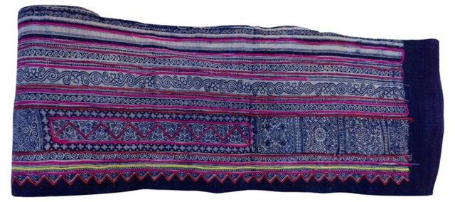 Indigo Batik w/ Embroidery, 8.65 Yds