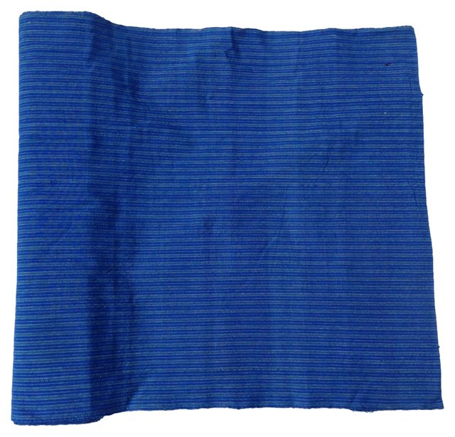 Striped Indigo Fabric, 10.1 Yds