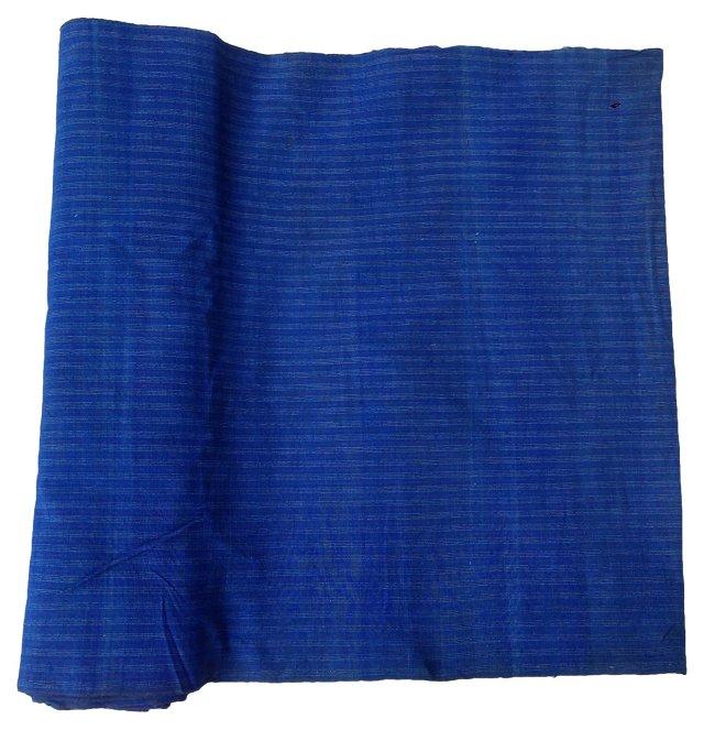 Striped      Indigo Fabric, 12.7 Yds