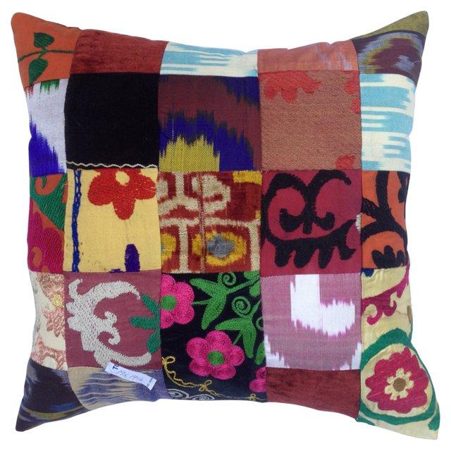 Turkish Textile Patchwork  Pillow