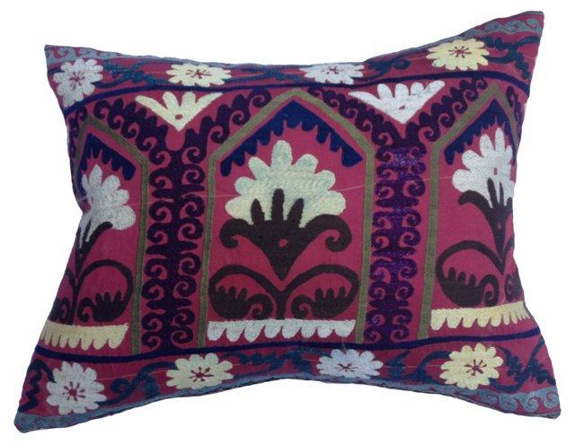 Silk Suzani Floor Pillow