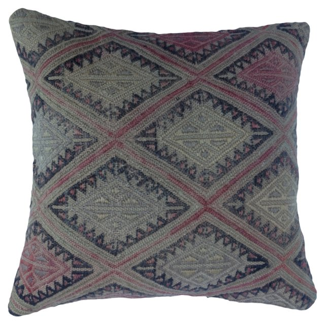 Turkish Kilim Fragment   Pillow