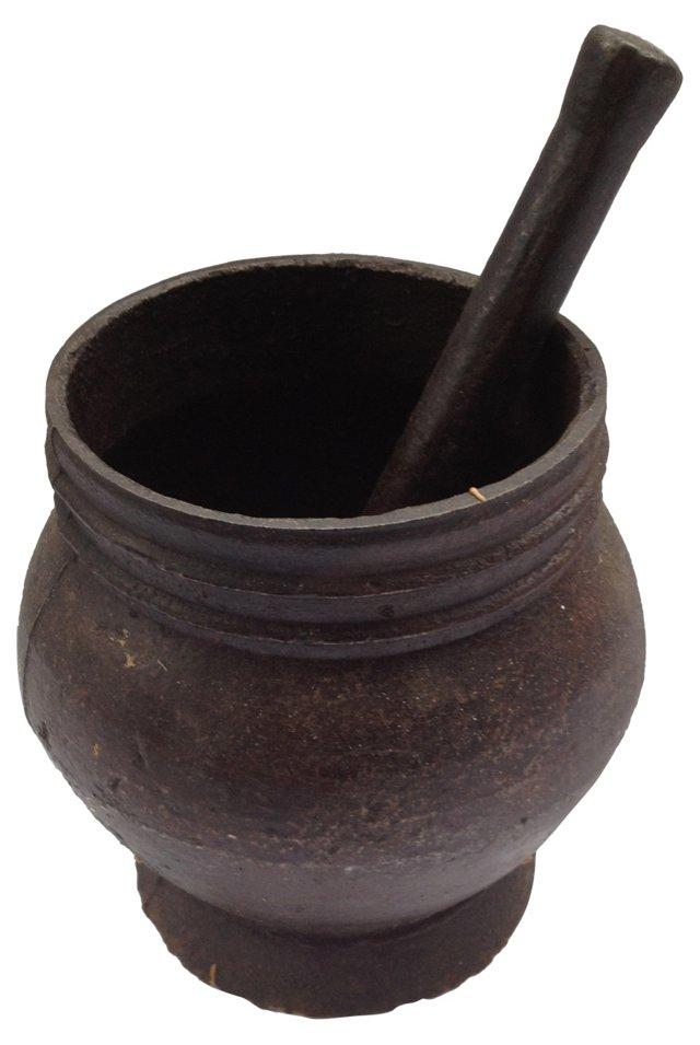 Cast Iron Mortar & Pestle