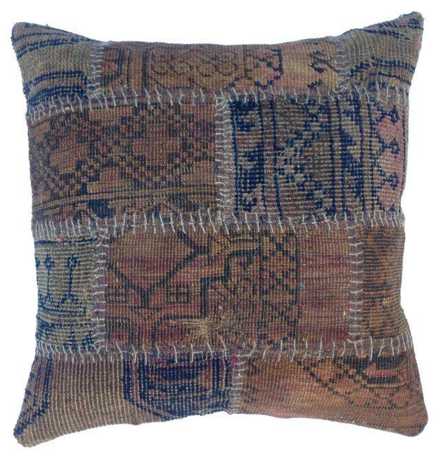 Rug Fragment Patchwork  Pillow