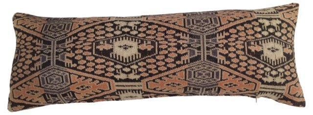 Lumbar Pillow w/ Antique Ikat