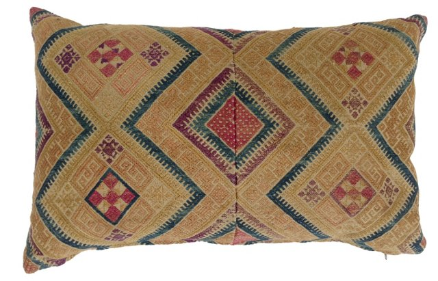 Hmong Hand-Embroidered Pillow