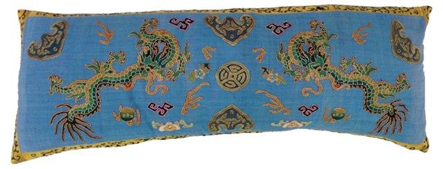 Appliquéd Twin Dragon Fragment Pillow