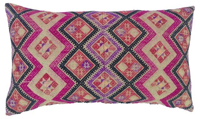 Pillow w/ Antique Wedding  Quilt