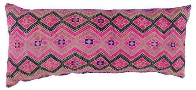 Pink Wedding  Quilt Lumbar  Pillow
