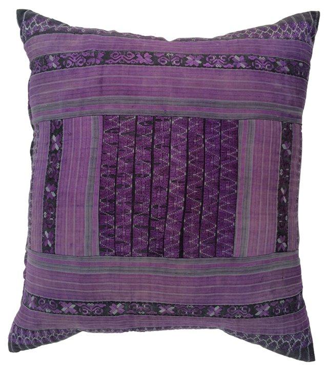 Purple Tribal Texile Pillow