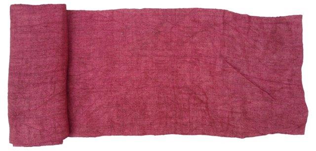 Handwoven Raspberry Linen,   8.1 Yds