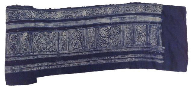 Hand-Blocked Batik Textile, 7 Yds