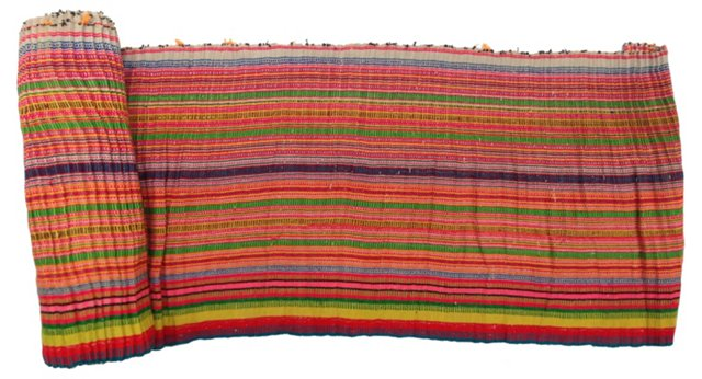Colorful  Striped Textile, 8.55 Yds