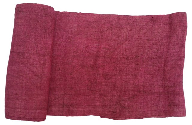 Overdyed Raspberry Linen, 8.33 Yds