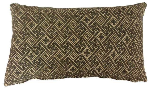 Gray & White Wedding Quilt  Pillow