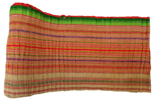 Homespun Colorful Striped Linen, 7.3 Yds