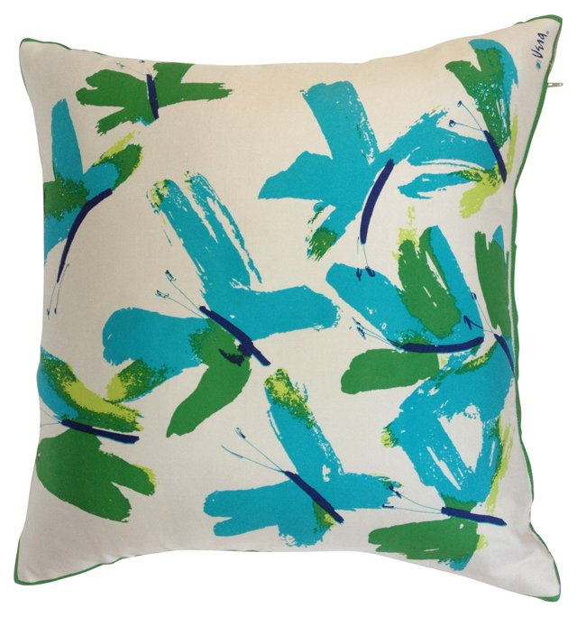 Vera Silk Butterfly Scarf Pillow