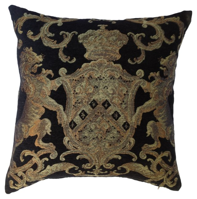 English Coat of Arms Tapestry   Pillow