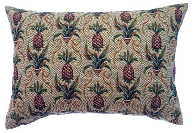 Colonial Pineapple Tapestry Pillow